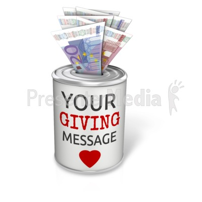 Donation Can Euro Presentation clipart