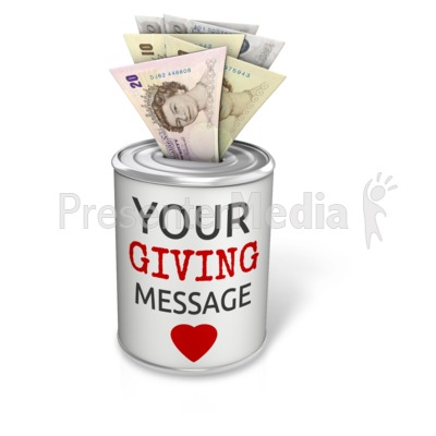 Donation Can Pound Presentation clipart