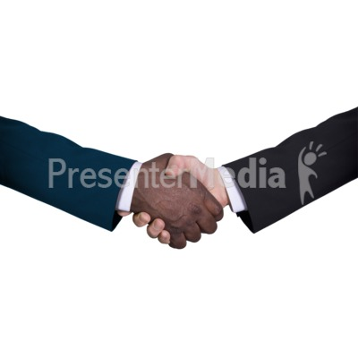 Business Diversity Handshake Presentation clipart