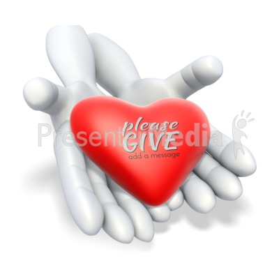 Heart In Hands Presentation clipart