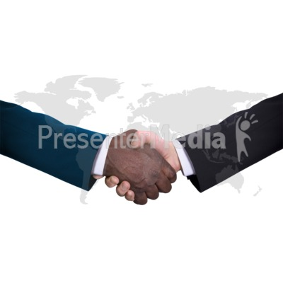World Diversity Handshake Presentation clipart