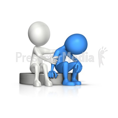 Figure Compassion To Another Presentation clipart