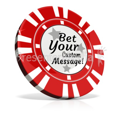 Custom Poker Chip Presentation clipart