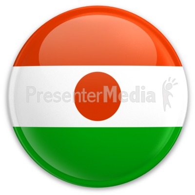 Flag Niger Button Presentation clipart