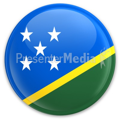 Flag Solomon Button Presentation clipart