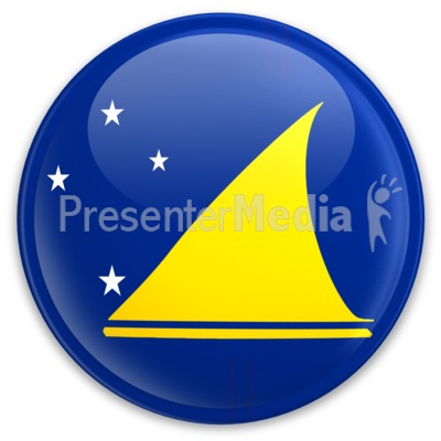 Flag Tokelau Button Presentation clipart