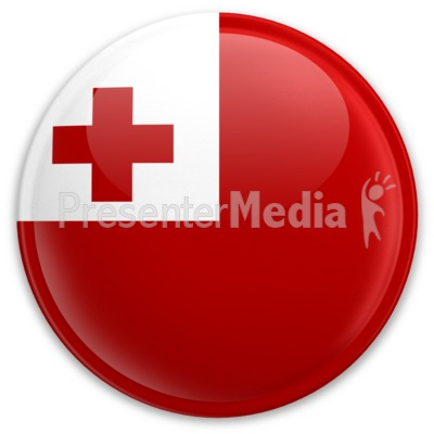 Flag Tonga Button Presentation clipart