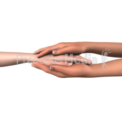 Hands Showing Compassion Presentation clipart
