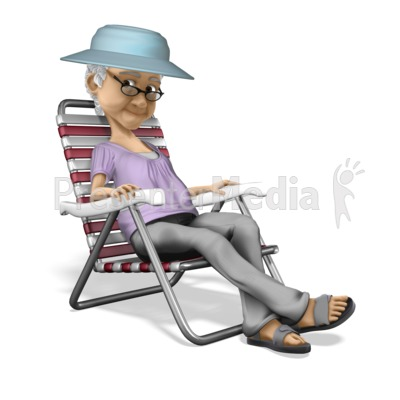Bernice Relax Vacation Presentation clipart