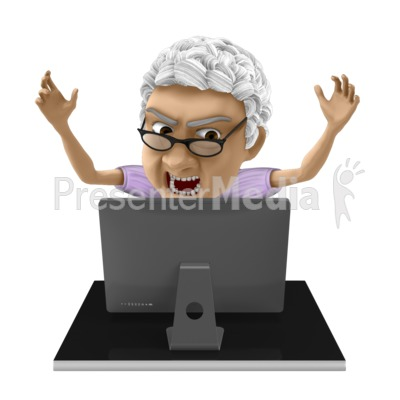 Bernice Frustrated Computer Presentation clipart