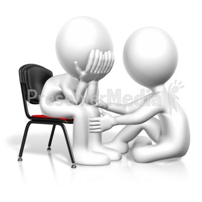Figure Comforting Another Presentation clipart