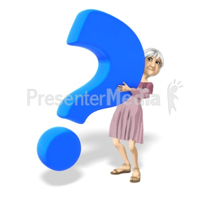 Martha Holding Question Mark Presentation clipart