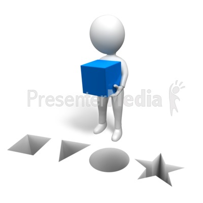 Figure Correct Shape Presentation clipart