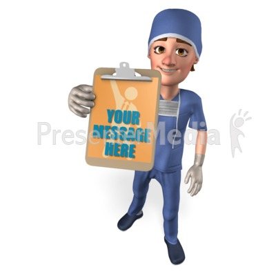 Clipboard Male Nurse Custom Presentation clipart