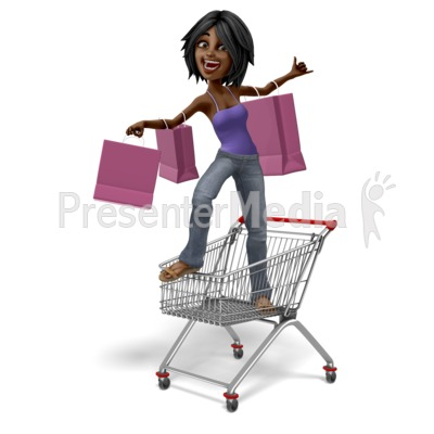 Jada Standing In Shopping Cart Presentation clipart