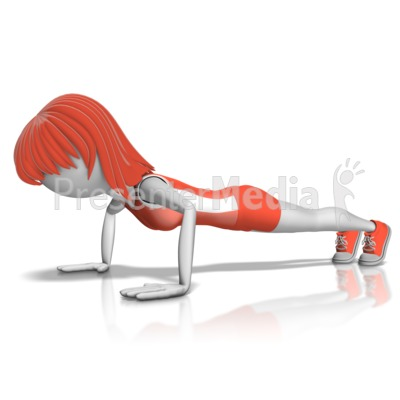Woman Push Ups Presentation clipart