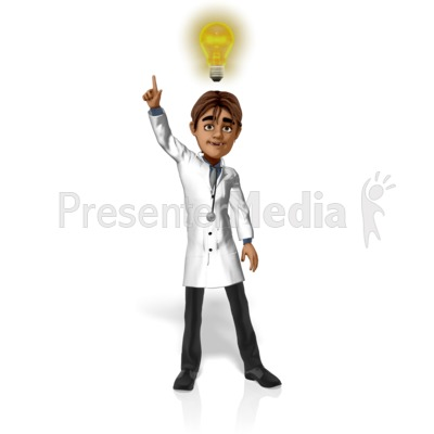 Doctor Simon Light Bulb Presentation clipart