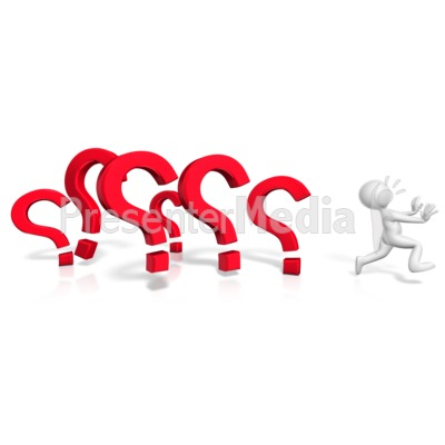 Running From The Questions Presentation clipart