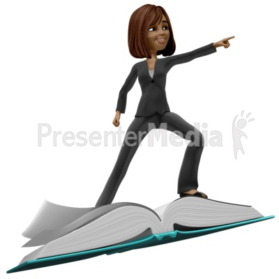 Talia Riding On Book Presentation clipart