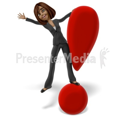 Talia Exclamation Mark Presentation clipart