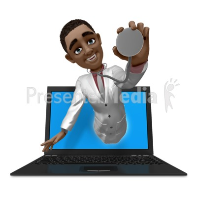 Ethan Doctor Out Of Laptop Presentation clipart