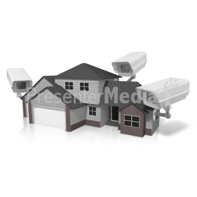 Security House Surveillance Presentation clipart
