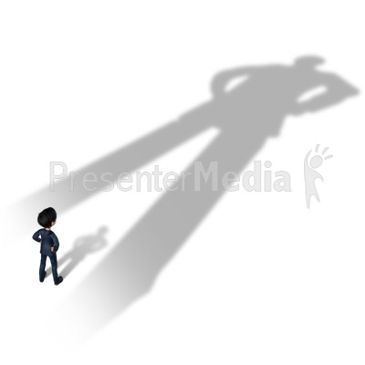 Businessman Overshadowed Presentation clipart