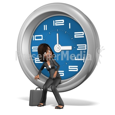 Talia Worried About Time Presentation clipart
