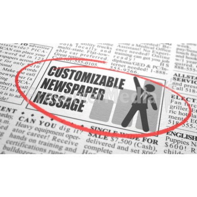 Newspaper Classified Custom Presentation clipart