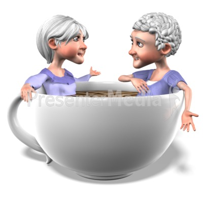 Bernice Martha Coffee Conversation Presentation clipart