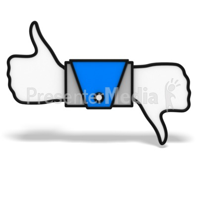 Thumbs Up And Down Icon Presentation clipart