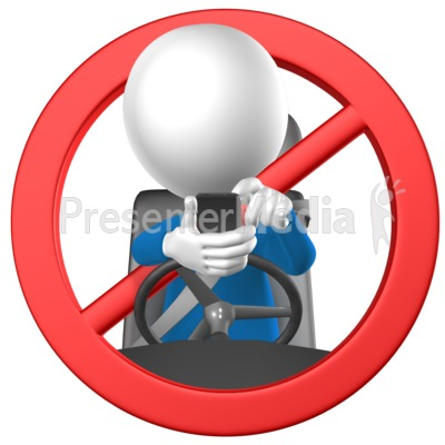 No Texting While Driving Presentation clipart