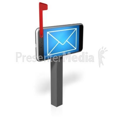 Cell Phone Mailbox Presentation clipart
