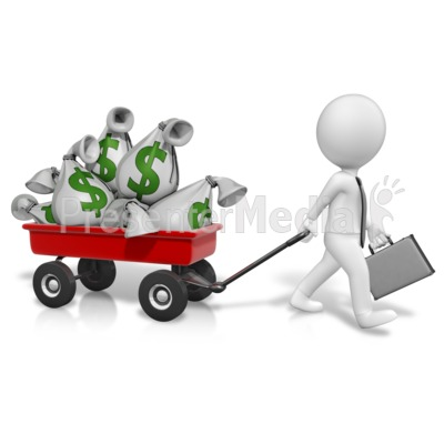 Wagon Full Of Money Presentation clipart