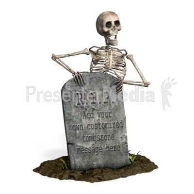 Skeleton Grave Custom Presentation clipart