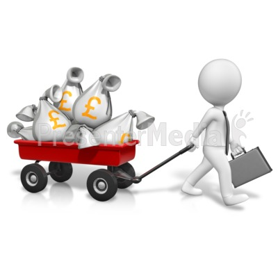 Wagon Full Of Pounds Presentation clipart