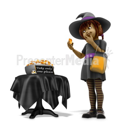 Sally Witch Obey Halloween Rules Presentation clipart