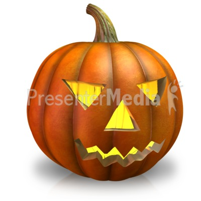Simple Pumpkin Light Presentation clipart