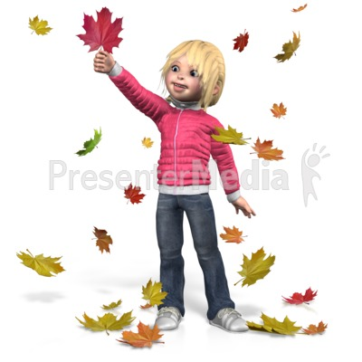 Autumn Sally Play Presentation clipart