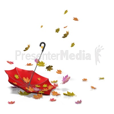 Autumn Leaves Umbrella Presentation clipart