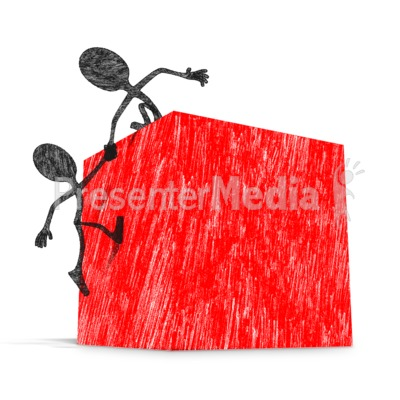 Drawn Stickfigures Helping Up Presentation clipart