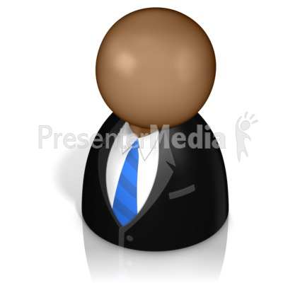 Businessman Pawn Presentation clipart
