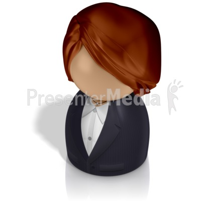 Businesswoman Pawn Presentation clipart
