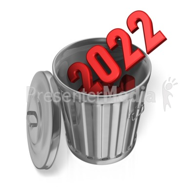 Last Year Garbage Can Custom Presentation clipart