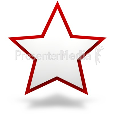 Plain Two Tier Star Presentation clipart