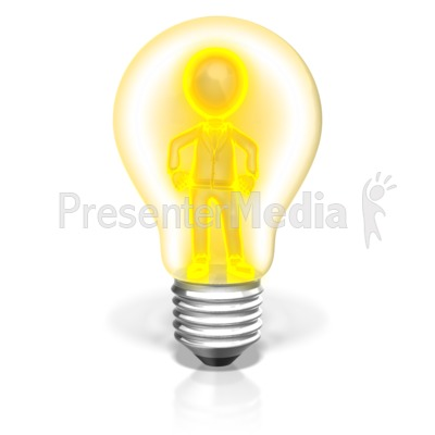 Businessman In Light Bulb Presentation clipart