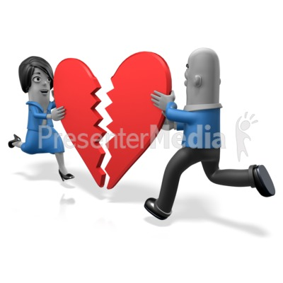 Biz People Heart Pieces Presentation clipart