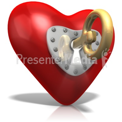 Key To Heart Presentation clipart