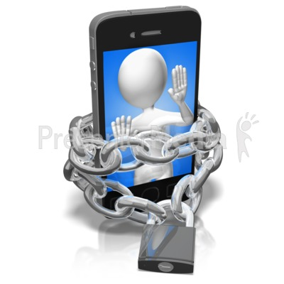 Chains Of A Phone Addict Presentation clipart