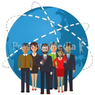 World People Connection Presentation clipart